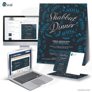 Multicolor Decorative Shabbat Dinner