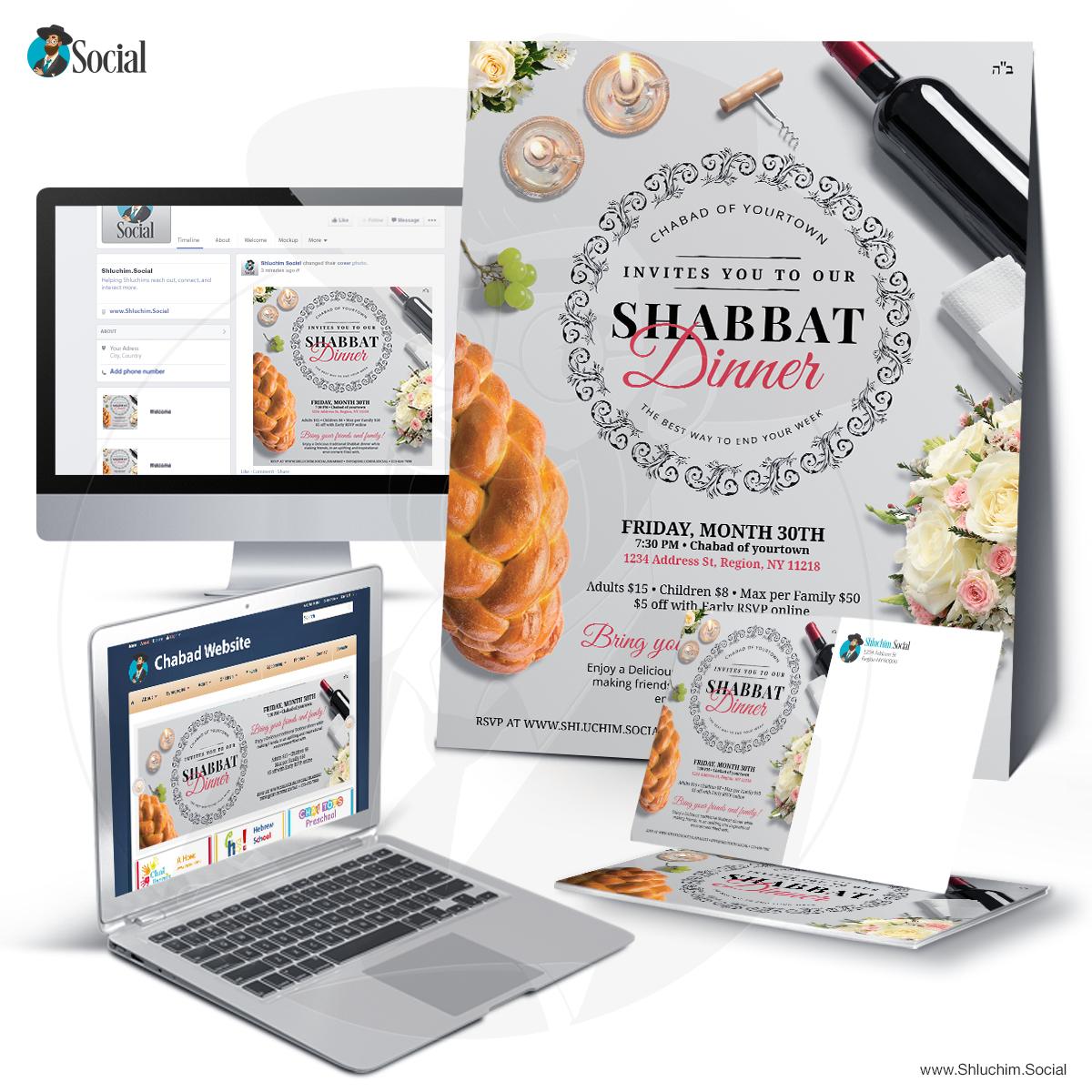 Shabbat Dinner Table Setting