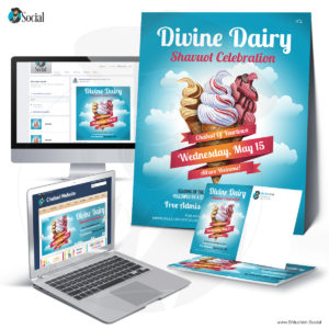 Multicolor Divine Dairy Shavuot Celebration