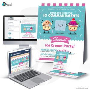 Multicolor Shavuot Ice Cream Party